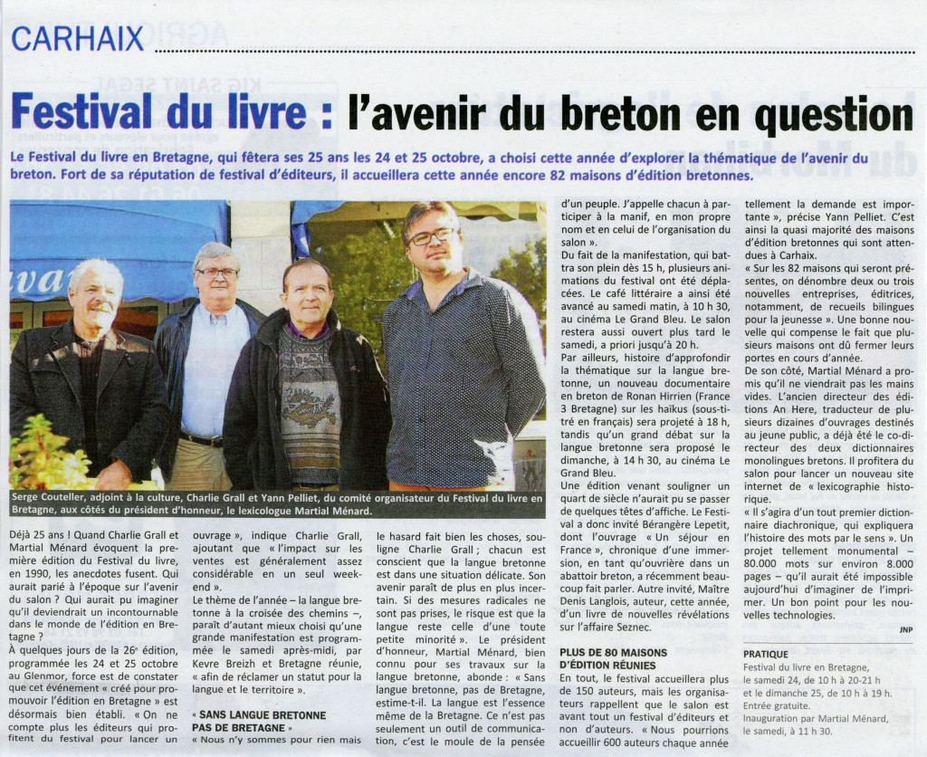 festival du livre carhaix grand messe nationaliste